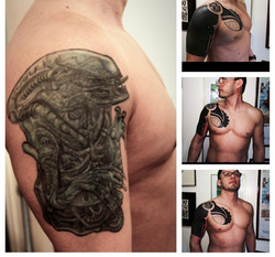 Polynesian Tattoo Cover up by The Red Pa