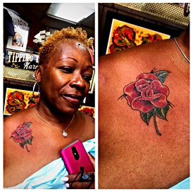 Rose Tattoo Dark Complexion Tattoos by T
