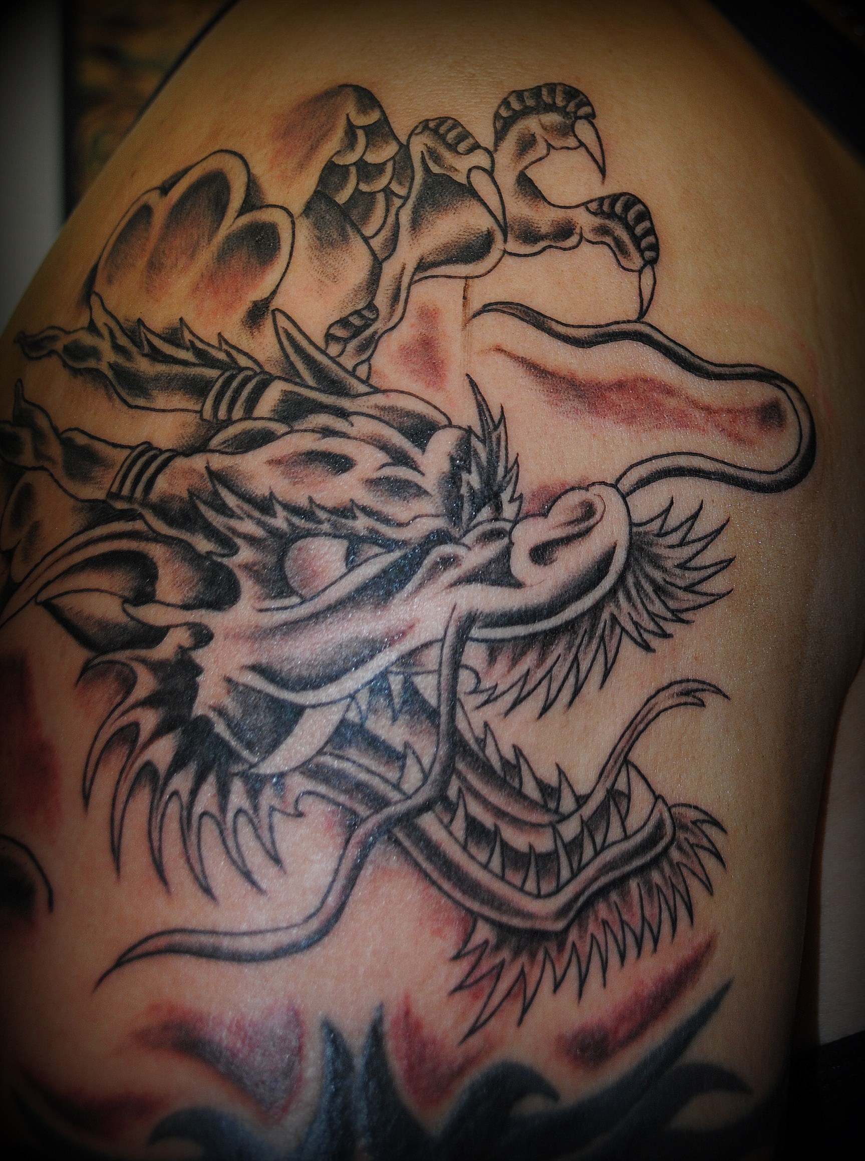 Dragon Tattoos by Powder at The Red Parl