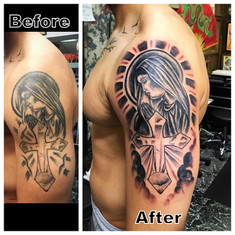 Tattoo Restoration Mary with Cross Tattoo The Red Parlour Tattoo & Piercing Woodside Queens NY NY NYC Tattoo Cover Ups by Powder-001.jpg
