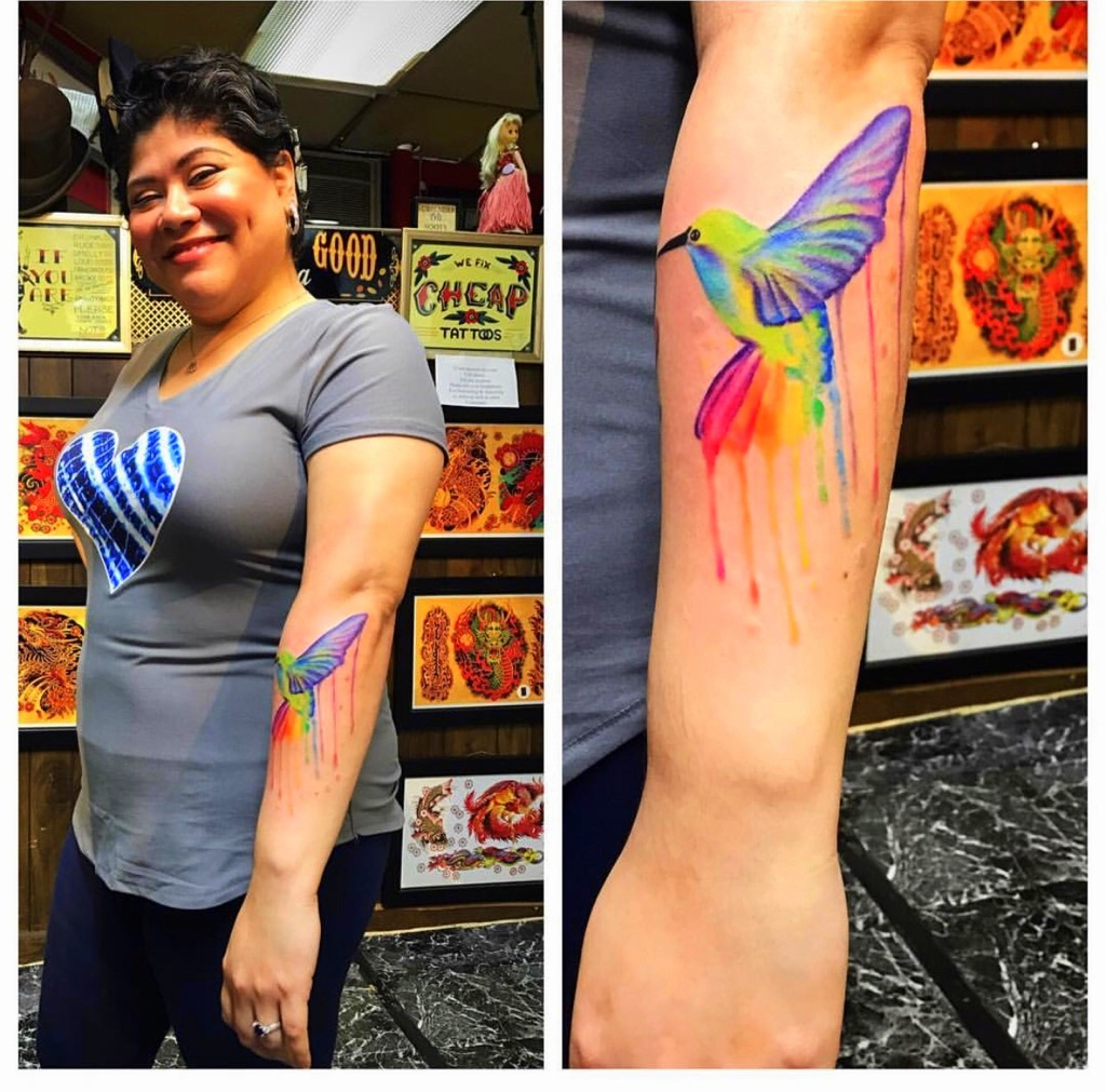 Watercolor Tattoo Designs by The Red Par