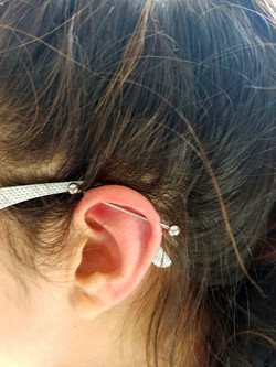 Ear Project Industrial Piercing by The R