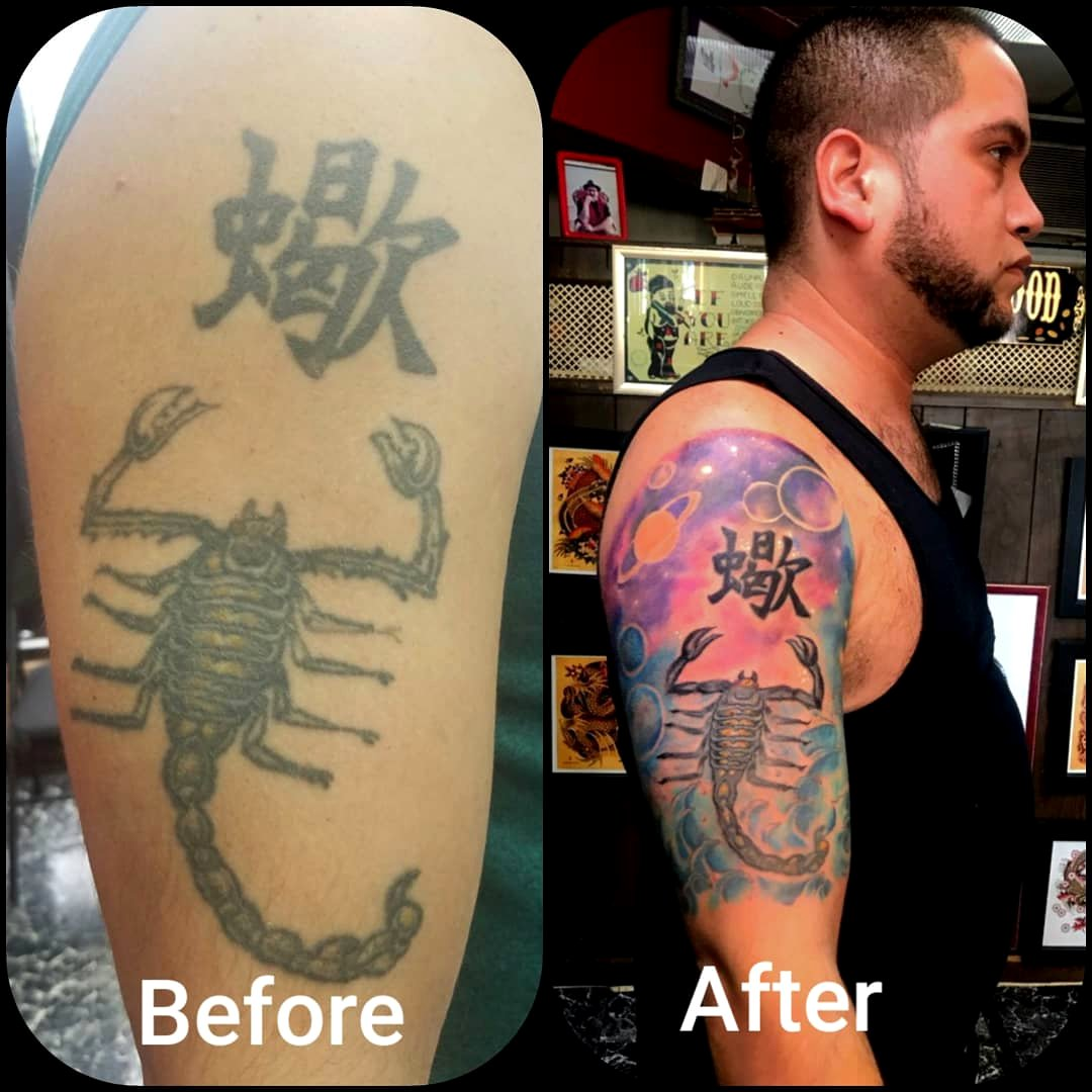 Before and After Tattoo Restoration  by