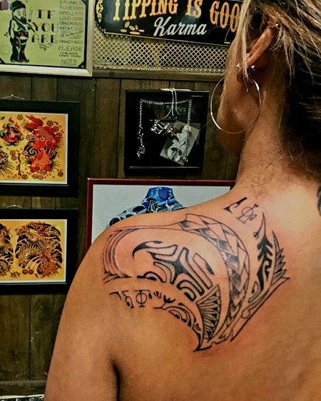 Polynesian Tattoo Shoulder Blade by The