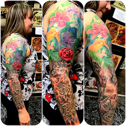 Floral Sleeve by The Red Parlour Tattoo