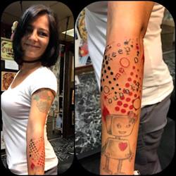 Trash Polka Tattoo by The Red Parlour Ta