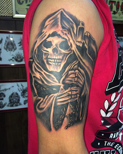 Reaper Tattoo by The Red Parlour Tattoo