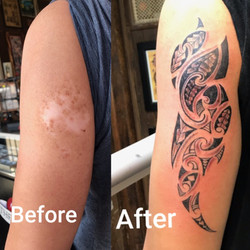 Tattoo Cover Up with Polynesian Tattoo b