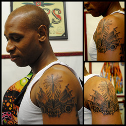 Haitian Crest Tattoo by The Red Parlour