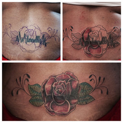 Tattoo Cover Up by Powder The Red Parlou