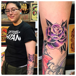 Purple Rose Tattoo by Powder  The Red Pa