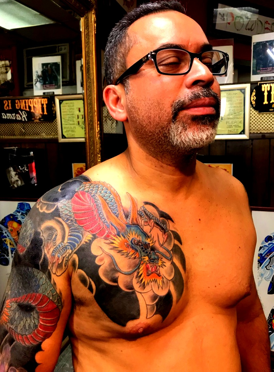 Japanese Dragon Sleeve Tattoo Cover Up b
