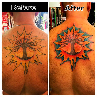 Tree of Life Tattoo Restoration by Powder The Red Parlour Tattoo & Piercing Woodside Queens NY NY NYC make that old Tattoo Look better then new.jpg