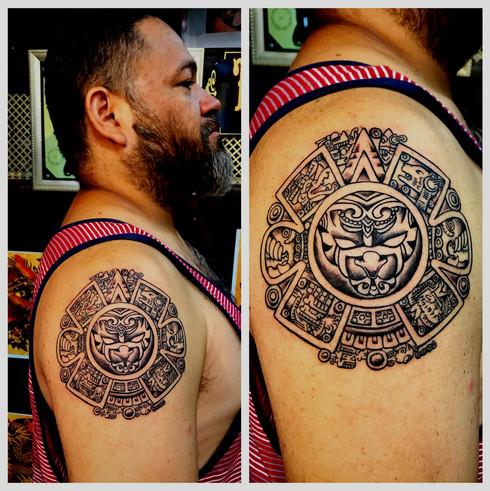 Sun God Tattoo by The Red Parlour Tattoo Woodside Queens NY NY NYC Custom Tattoos.jpg