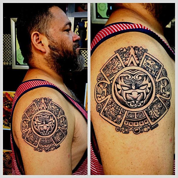 Sun God Tattoo by The Red Parlour Tattoo Woodside Queens NY NY NYC Custom Tattoos.jpg