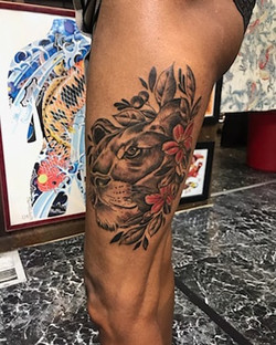 Lioness Tattoo by The Red Parlour Tattoo