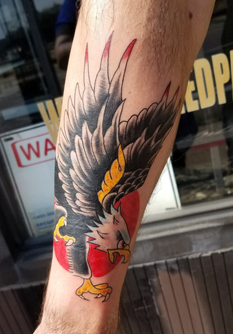Traditional Tattoo Eagle by The Red Parl