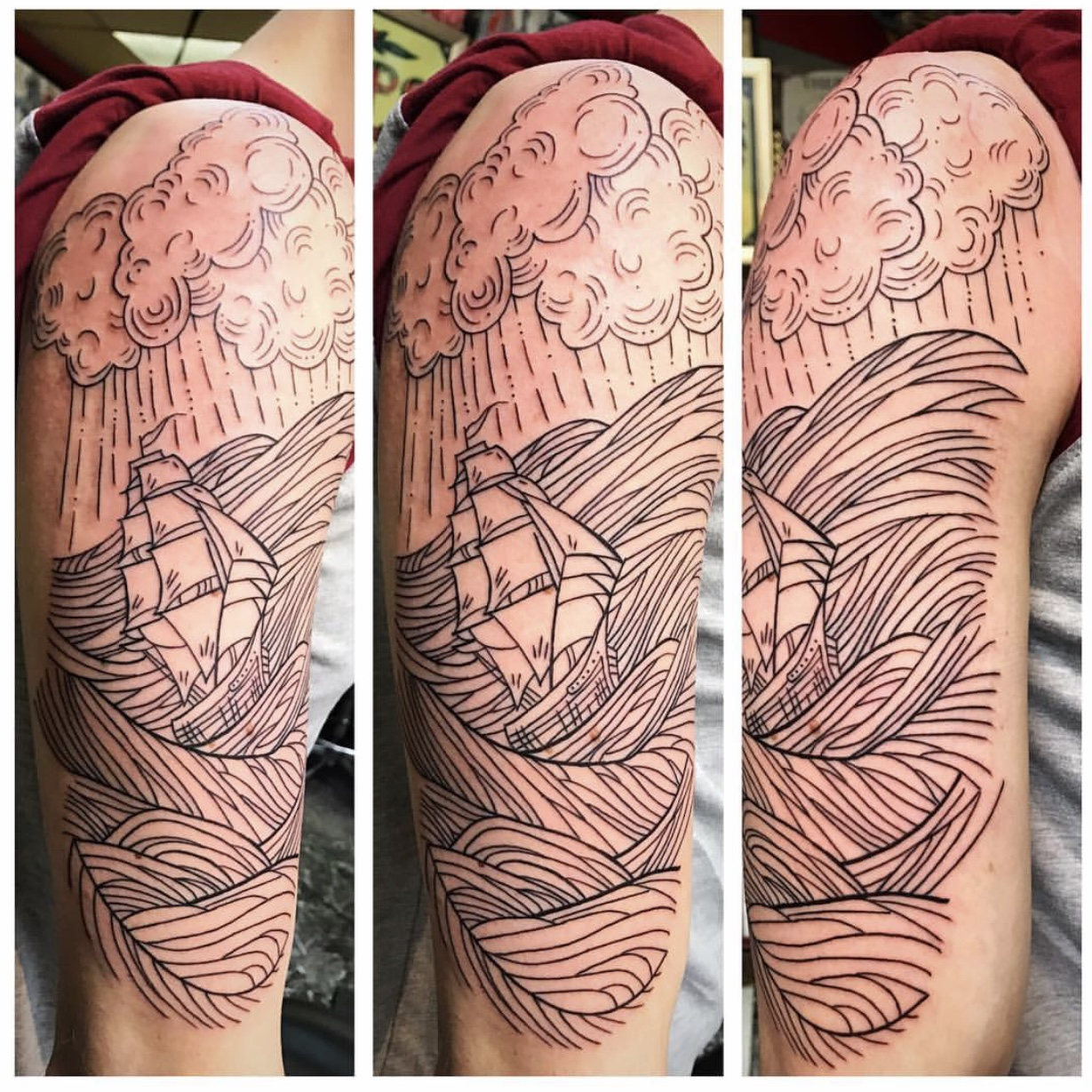 Ship Tattoo by Powder The Red Parlour Ta