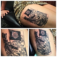 Tarrot Death Card Tattoo by The Red Parl
