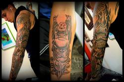 Japanese Sleeve Tattoo Geisha Buddha Tem