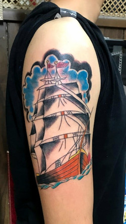 Traditional Ship Tattoos by The Red Parl