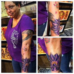 Purple Lotus Tattoo by The Red  Parlour