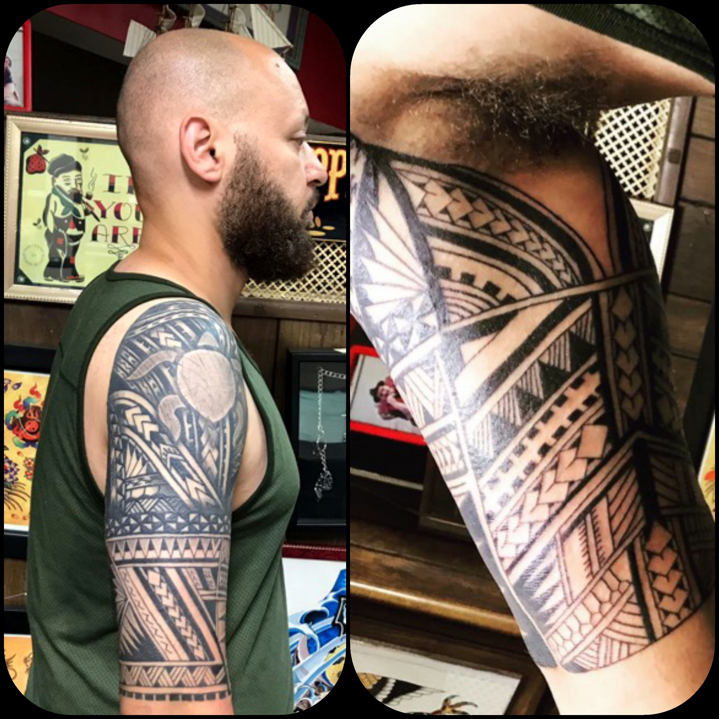 Polynesian Half Sleeve Tattoo by The Red