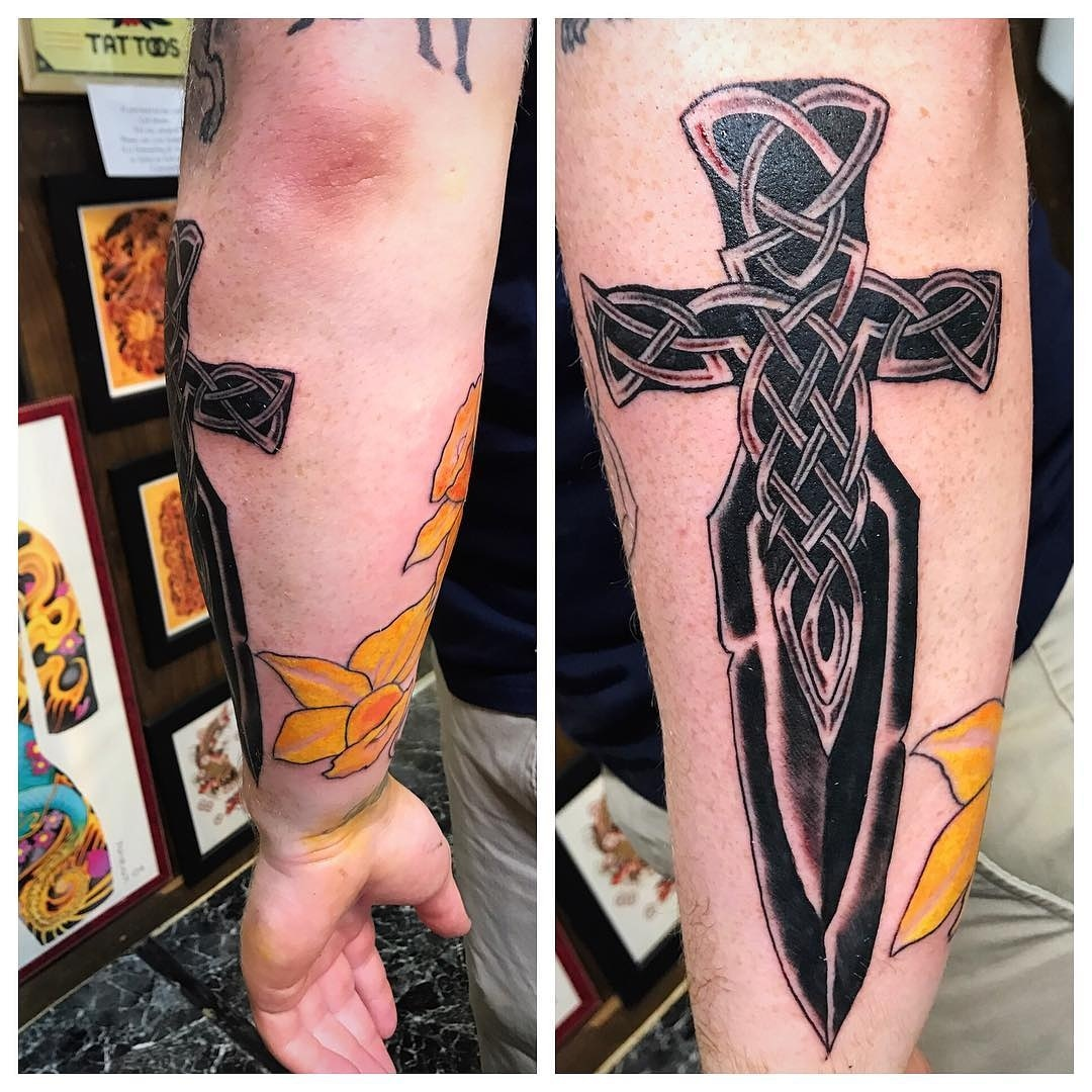 Celtic Tribal Dagger Tattoo by The Red P