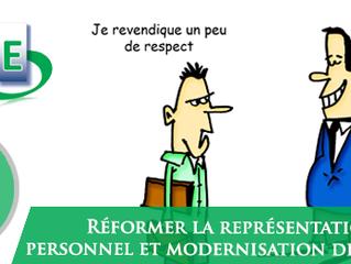Réformer la représentation du personnel et modernisation des syndicats