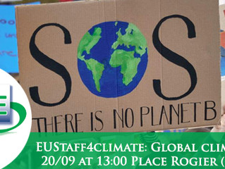 Friday, 20 Sept. 2019: Global Climate Strike at 13:00 Place Rogier (Schuman)