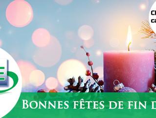 Le SFE vous souhaite d'excellentes fêtes de fin d'année + Chèque cadeau (membres uniquement)