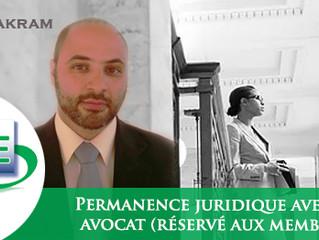 Permanences juridiques (Janvier) - Membres uniquement