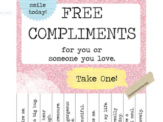 Faites un compliment pour la journée mondiale du compliment - Give a compliment on the World Complim