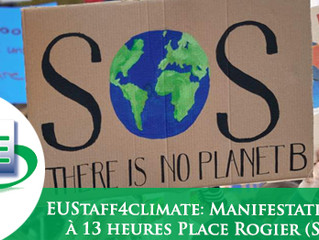Vendredi 20 Sept. 2019 : Marche pour le Climat à 13 heures Place Rogier (Schuman)