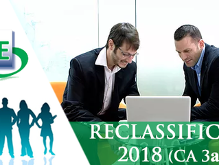 Reclassification exercise 2018 - CA 3a only
