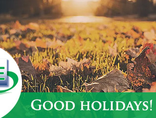 Get ready for a good Automn holidays!