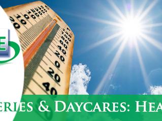 Nurseries & Daycares: heat wave summer 2018