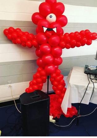 Yo Gabba Gabba Balloon Sculpture