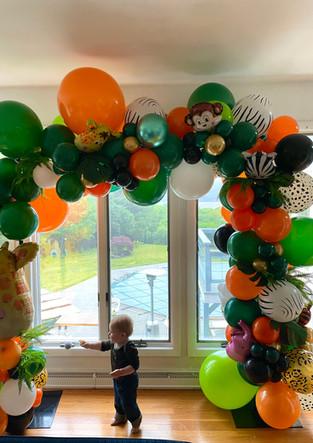 Jungle Organic Balloon Arch Near Cornwal
