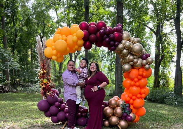 Fall ThemedCircle Balloon Arch Near Yorktown NY_