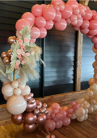 Organic Balloon Hoop Arch