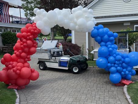 Massive July 4th Organic Balloon Arch!