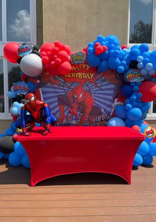 Spider Man Organic Balloon Arch Near Goshen New York.jpeg