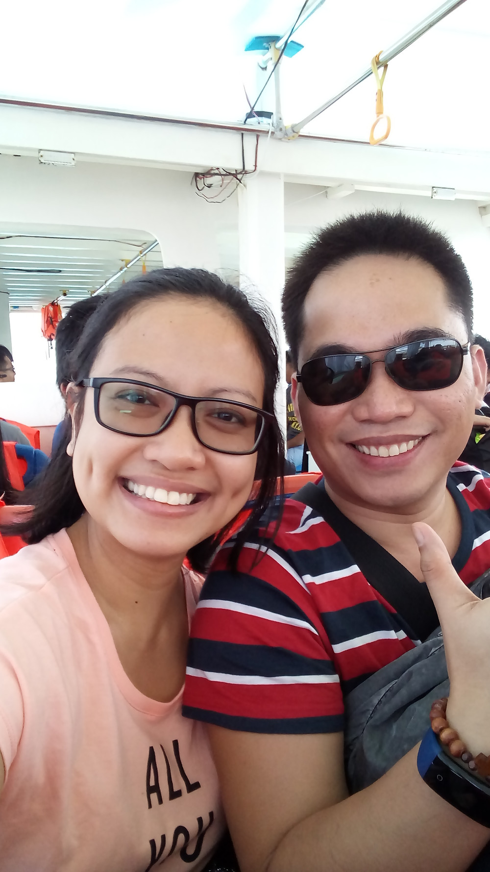 PM and I on our boat ride to Isla De Gigantes