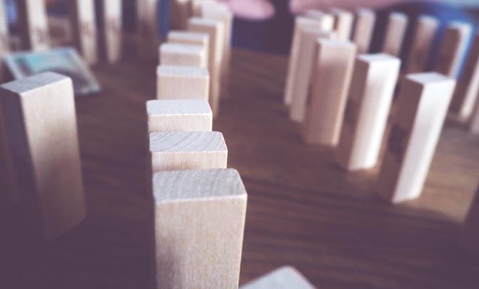 Crumbling blocks