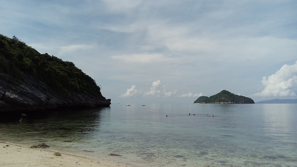 This is where we went snorkeling.