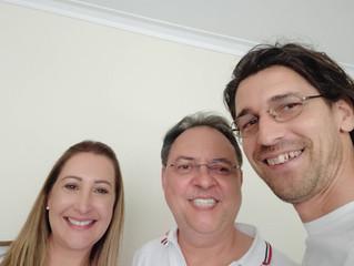 Mais uma grande Alegria: hoje vieram Irmãos do Brasil para visitar o showroom euphonia e levarem Ser