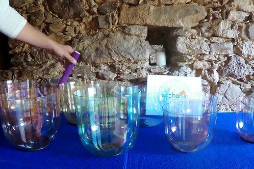 Conjunto 8 Taças 'Magic Color' @432Hz / Set of 8 Bowls 'Magic Color' @432Hz