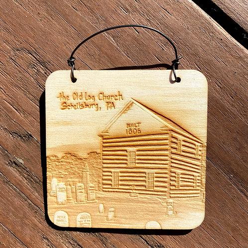 Ornament Wood Old Log Church