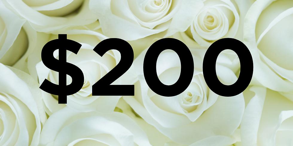 $200 Regional White Roses Gallery